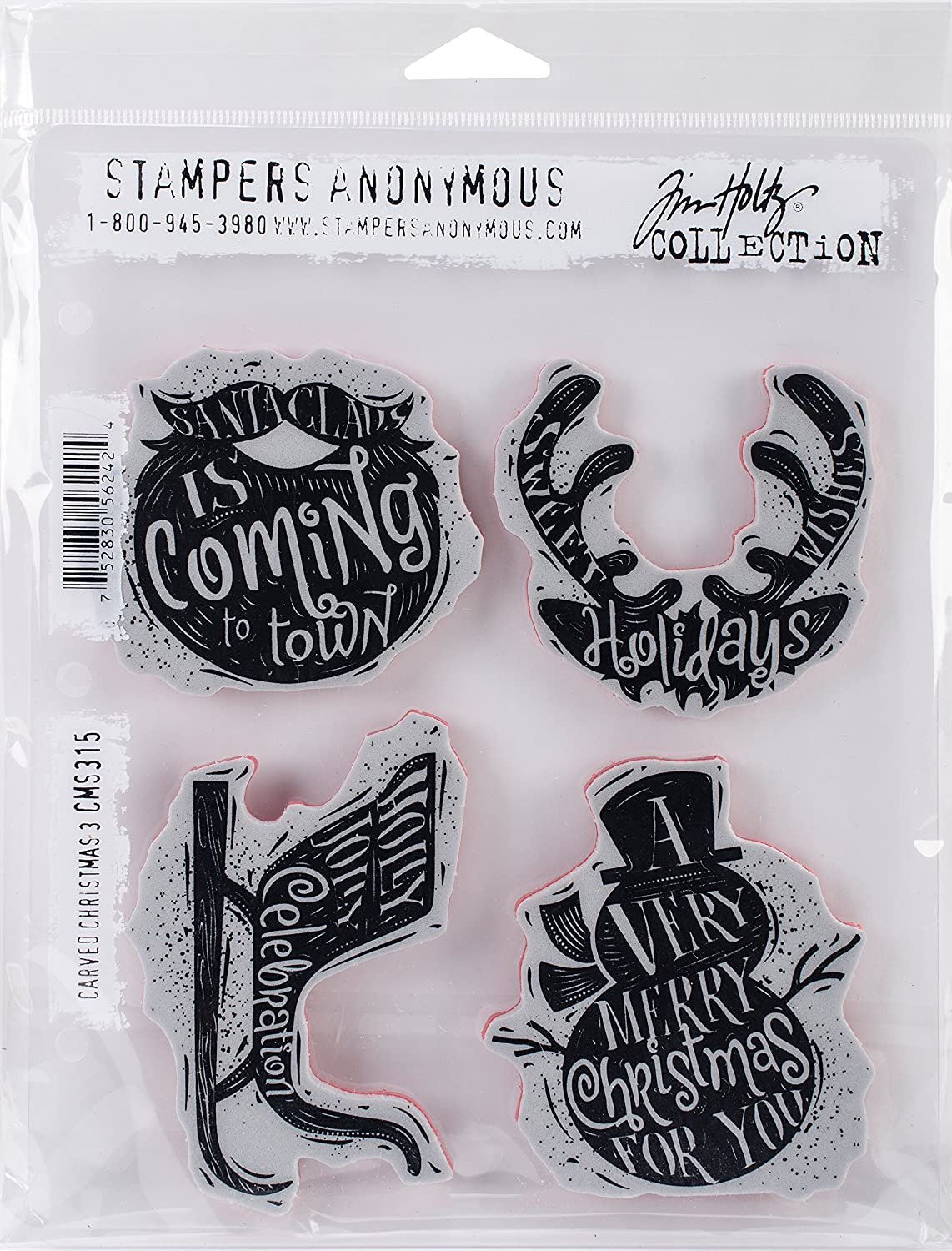 Stampers Anonymous Tim Holtz Cling francobolli, 24.13  x 19.05  x 0.76  cm 24.13 x 19.05 x 0.76 cm CMS315