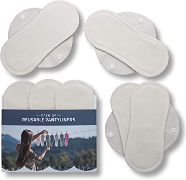 Natissy Salvaslips de tela reutilizables, 7-Pack Protege Slips de ...