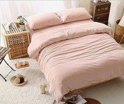 kpblis174 4 piece home textilebeautiful pink thick velvet bedding set duvet - Velvet Bedding
