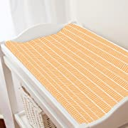 Carousel Designs Light Orange Herringbone Changing Pad Cover - Organic 100% Cotton Change Pad Cover - Made in The USA