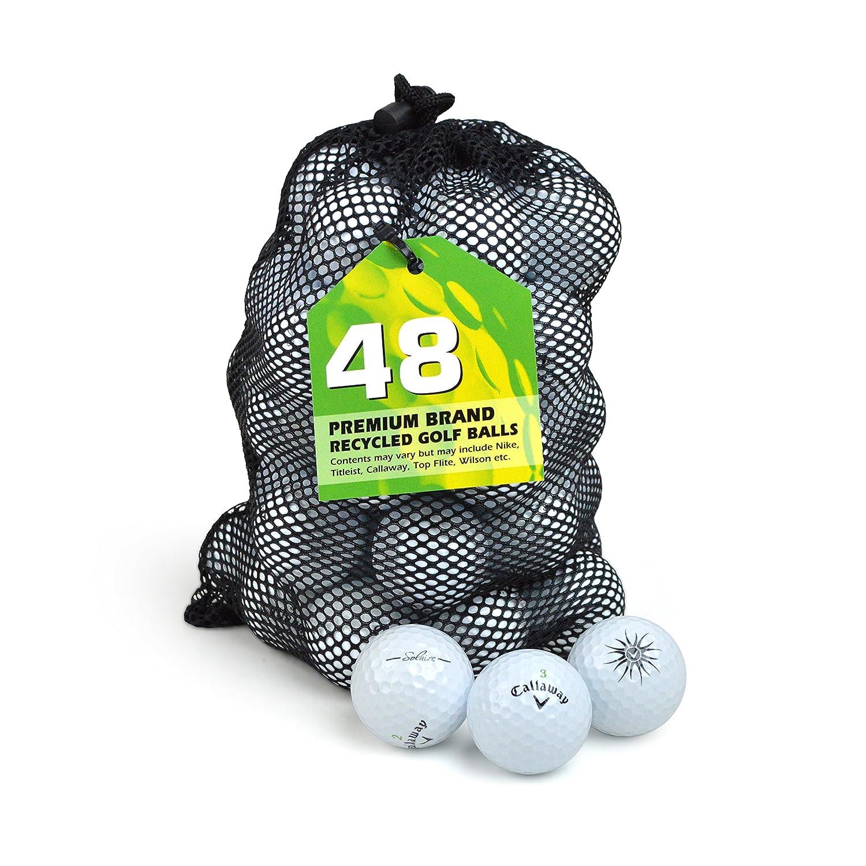 セカンドチャンスキャロウェイソレアグレードAプレミアムレイクゴルフボール(48パック) - ホワイト B00WW7AIN8