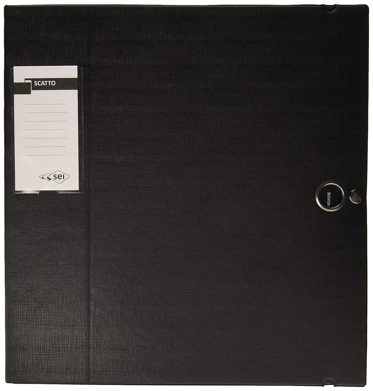 1 Pezzo Sei Rota 67900810 Cartella Porta Documenti e Progetti Nero Dorso 8 cm
