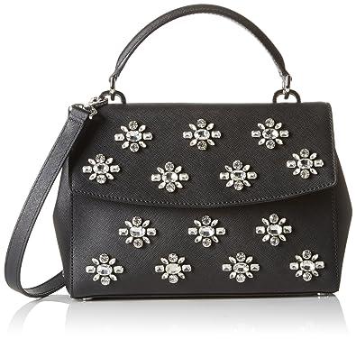 5f0e416ba1df5 Amazon.com  MICHAEL Michael Kors Women s Ava Jwl Sm Th Satchel Black  Handbag  Michael Kors  Shoes