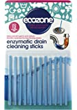Ecozone Enzymatic Drain Sticks – Helps to Prevent Blockages Forming – 1 Year of Protection Per Packet
