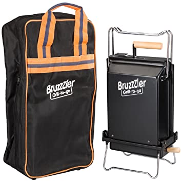 Bruzzzler - Barbacoa carbón portatil y plegable con bolsa de viaje