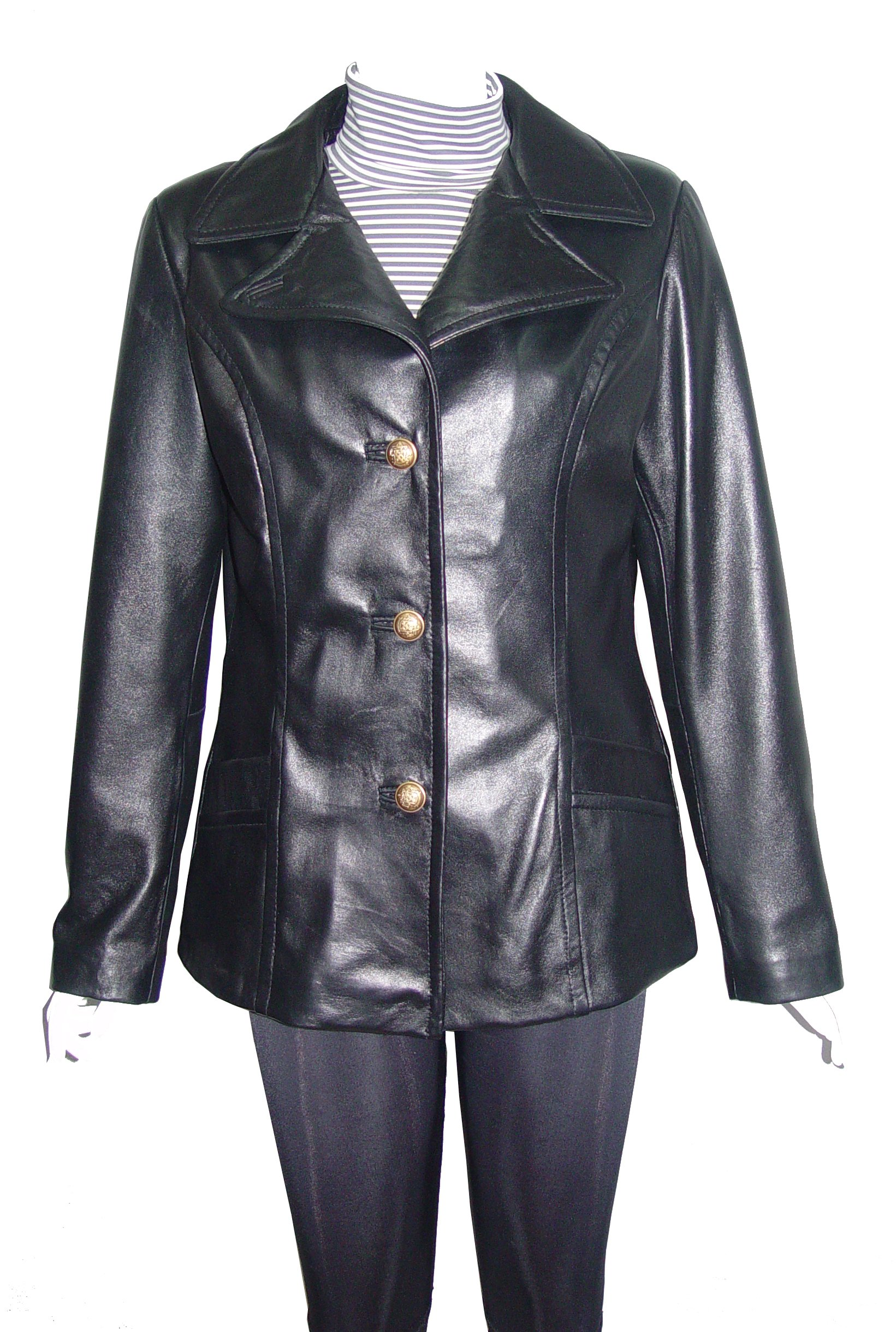 Nettailor 4101 Fitted Clean Leather Jacket Womens Classic Business Clothing