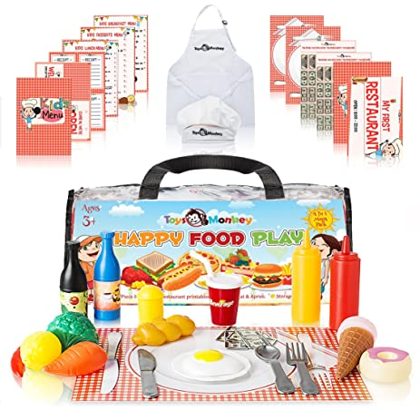 Amazon Com Play Food Set For Kids Huge Educational 141 Piece