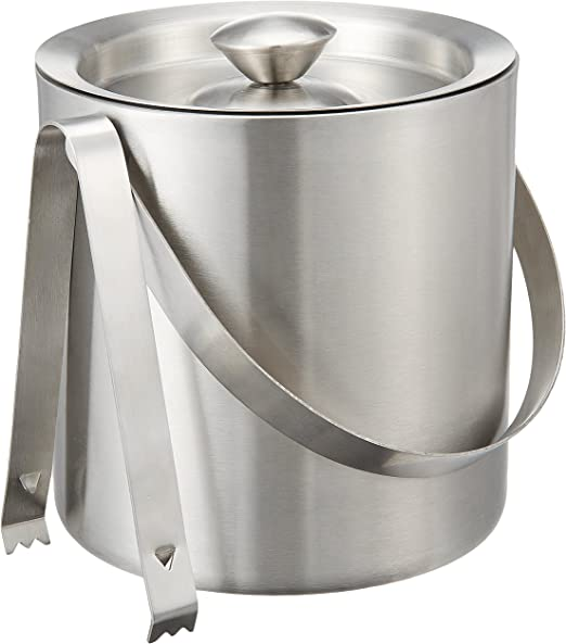 Amazon Com Bhalaria Ice Bucket And Tong Set 2 Pieces Kitchen Dining
