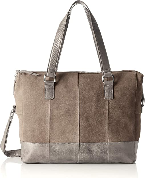 PIECES Damen Pcbaya Suede Daily Bag Umhängetasche, 10x25x35 cm