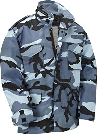 Winter Coat Water Repellent Padded Removable Liner New Black M65 Field Jacket