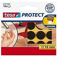 Tesa Oppervlaktebeschermers, Anti Scratch Zelfklevend Vilt Rond 18 Mm Dia, Wit (16 Pads) (Oude Versie) 18 mm Diameter/16…