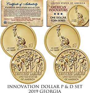 American Innovation Georgia 2019 One-Dollar 2-Coin P & D Set with Capsules & COA