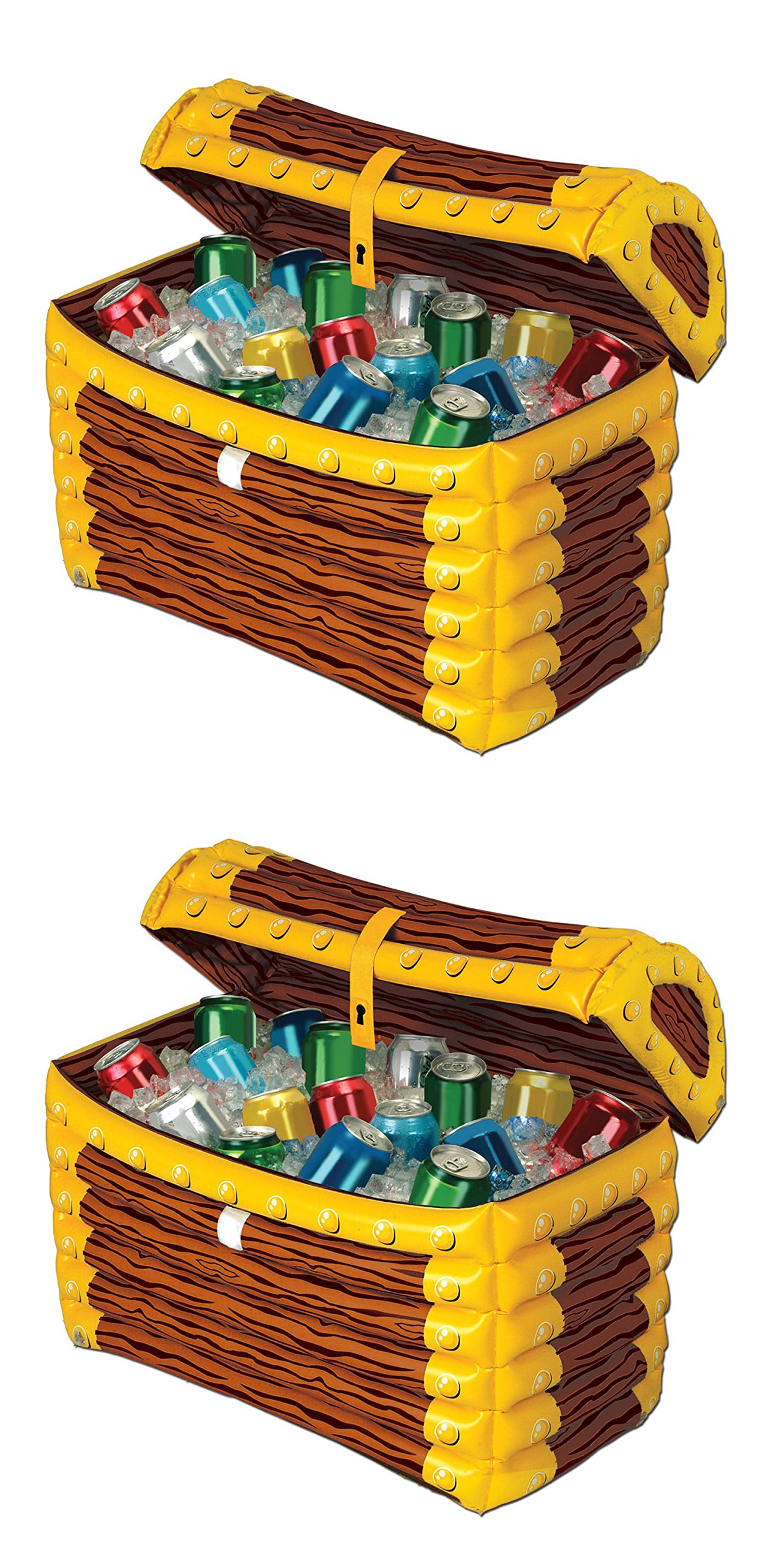 Beistle S50988AZ2 treasure chest cooler, Multicolored