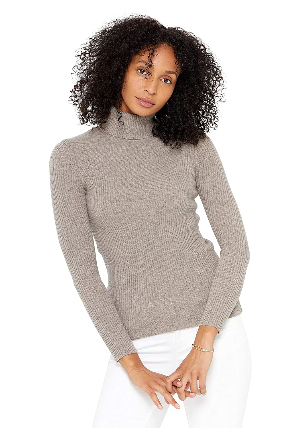 State Cashmere Womens 100% Pure Cashmere Turtleneck Long