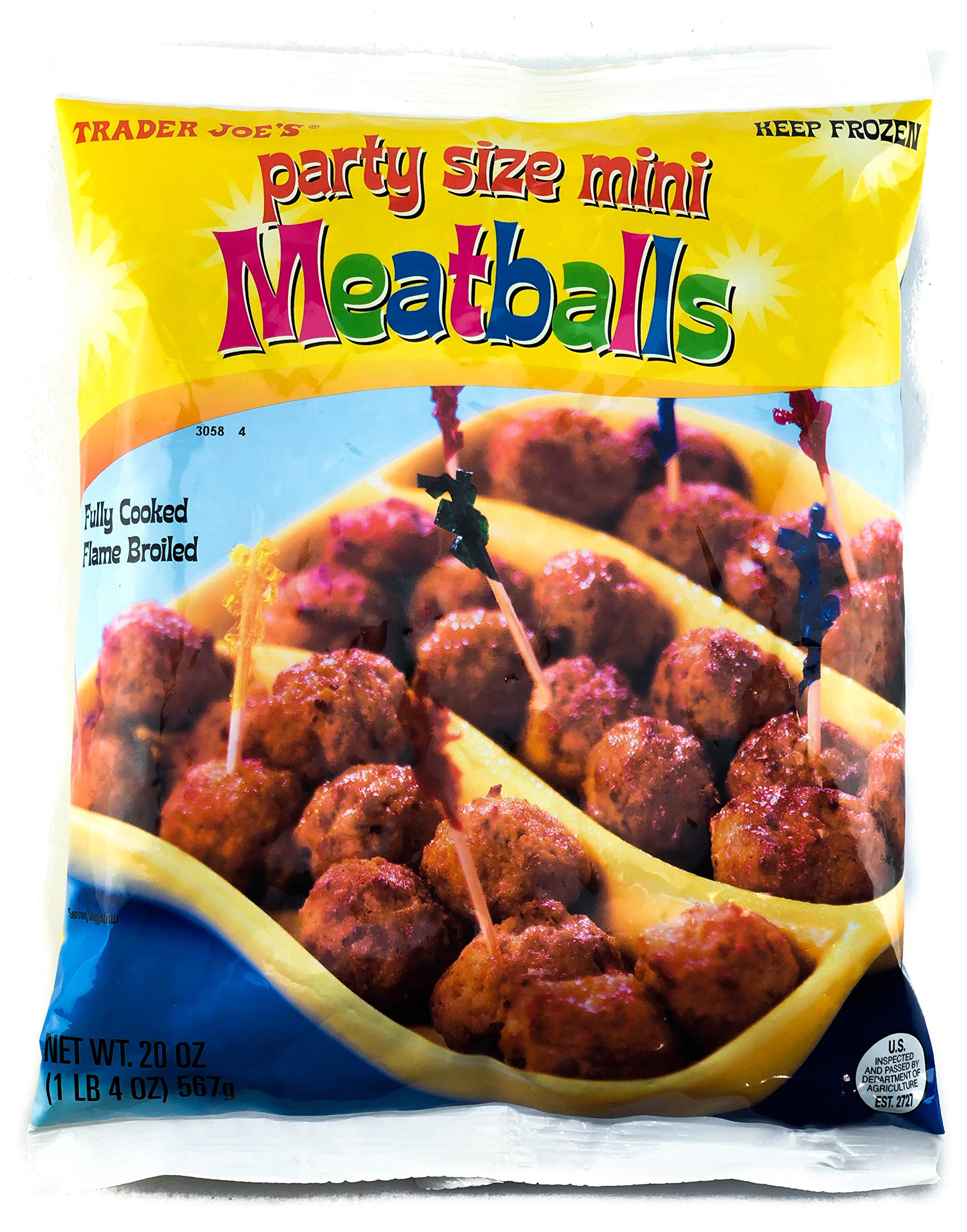 Trader Joe's Party Size Mini Meatballs (4 Pack)