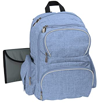 47f1f78503f9 Baby Diaper Backpack Organizer for Moms   Dads With Large Changing Pad