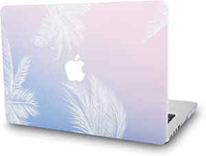 "KECC Laptop Case for MacBook Air 13"" Plastic Case Hard Shell Cover A1466/A1369 (Blue Feather)"