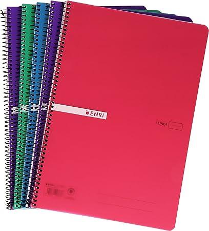 Enri 400043835 - Pack de 5 cuadernos con espiral simple ...