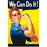 We Can Do It! World War 2 Propaganda Rosie The Riveter Poster A3 Size