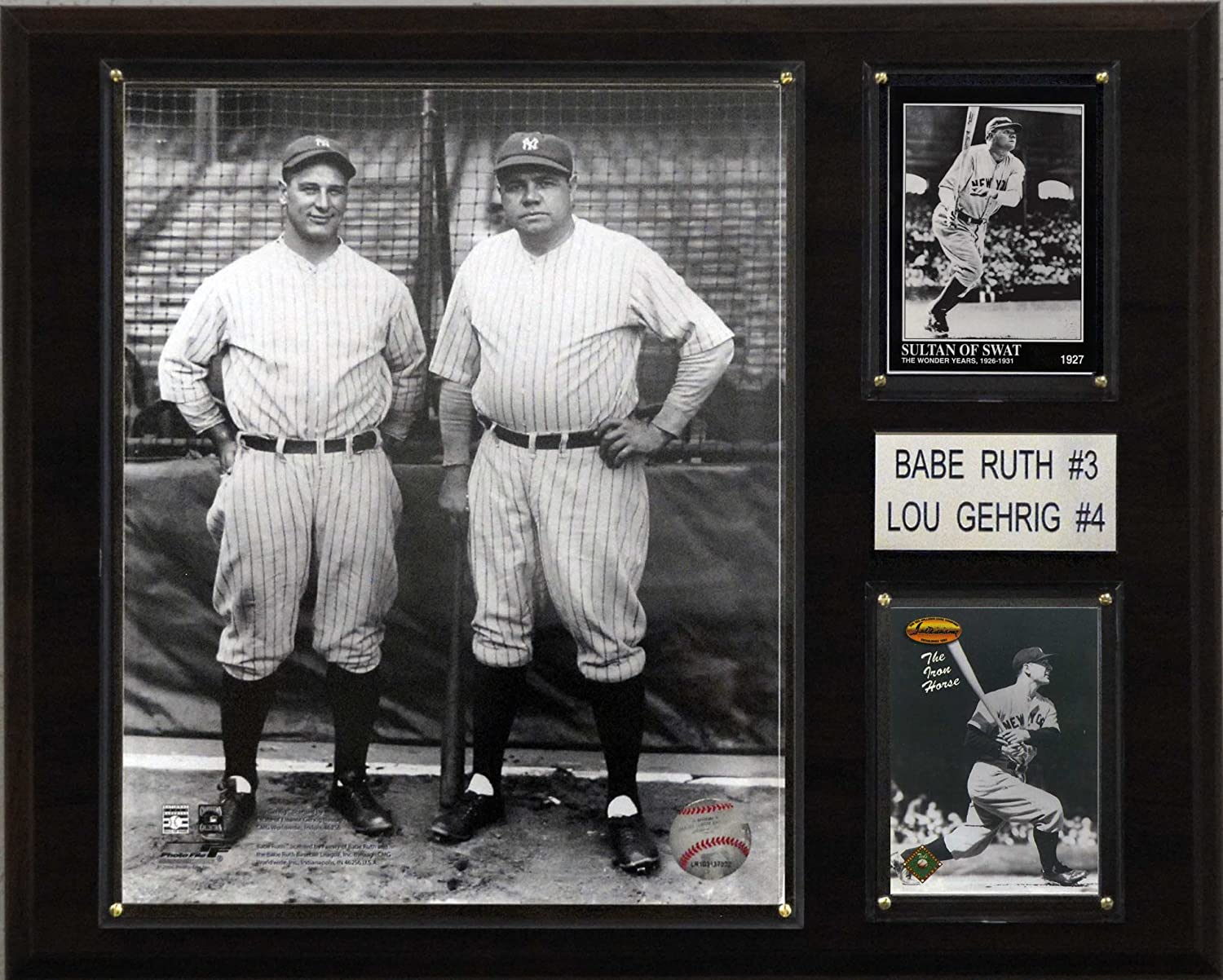 MLB New York Yankees Mantle-Ruth Legacy Collection Plaque 12 x 15-Inch