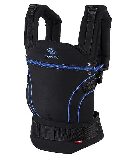 manduca First Portabebe > BlackLine Absolute Blue < Mochila Portabebes con Cinturon Ergonomico & Extension de Espalda, Algodón Orgánico, para bebés de ...