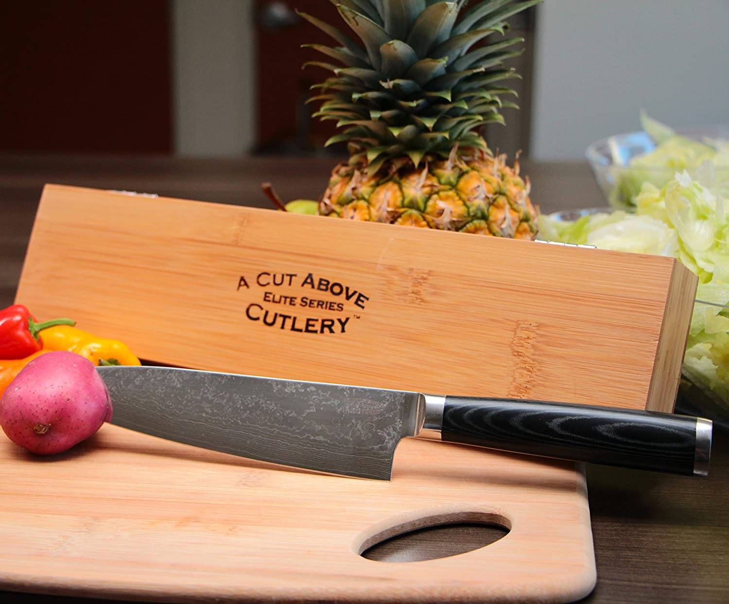 amazon com inventory closeout a cut above cutlery elite damascus