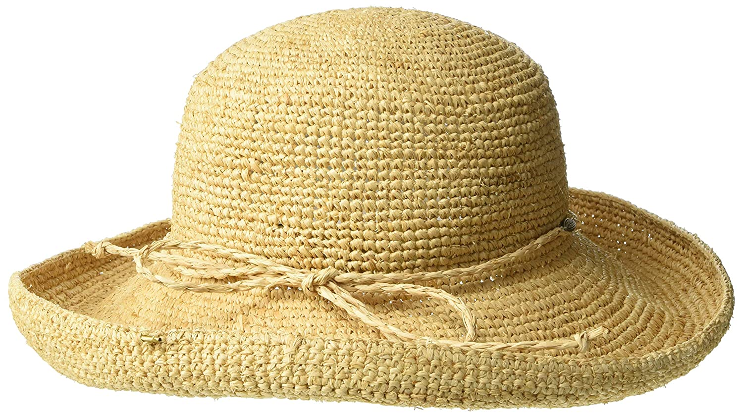 Scala Women s Crocheted Packable Raffia Hat 3d21374be48