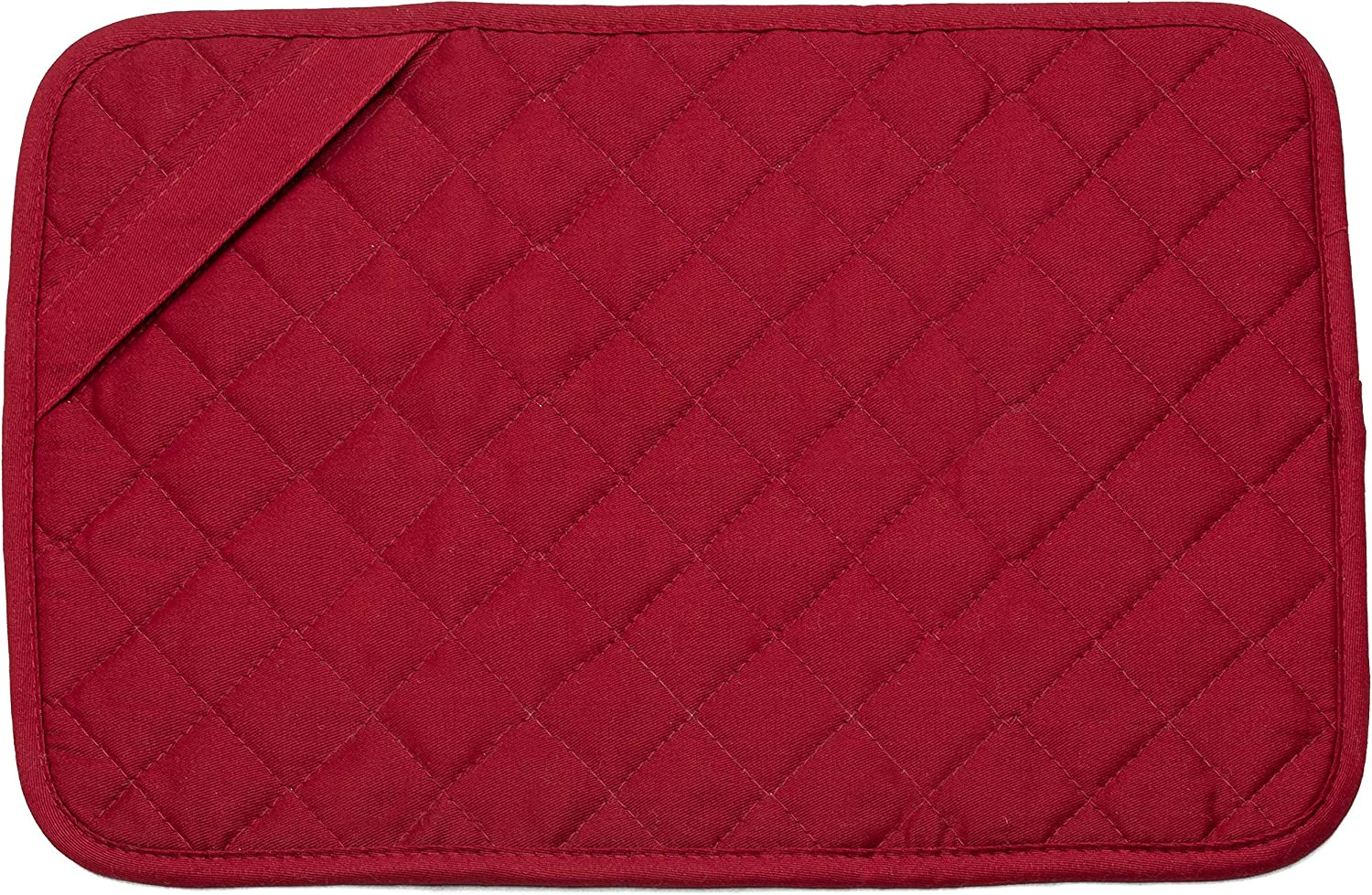S&T INC. Heat-Resistant Trivet Mat, 11 by 17-Inch, Red, 11