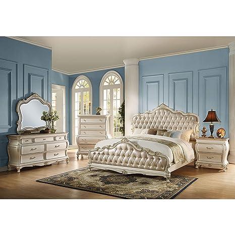 Amazon.com: Acme Furniture Chantelle 4-Piece Bedroom Set ...