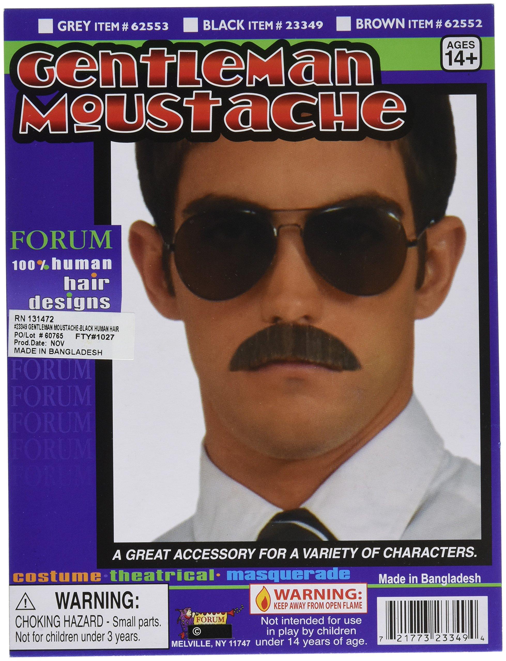 Forum Novelties 23349 Gentleman Moustache, Black
