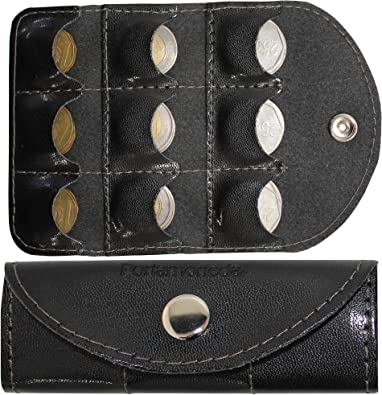 Handmade Black with brown dots Coin pouch  Fabric Gift Card Holder