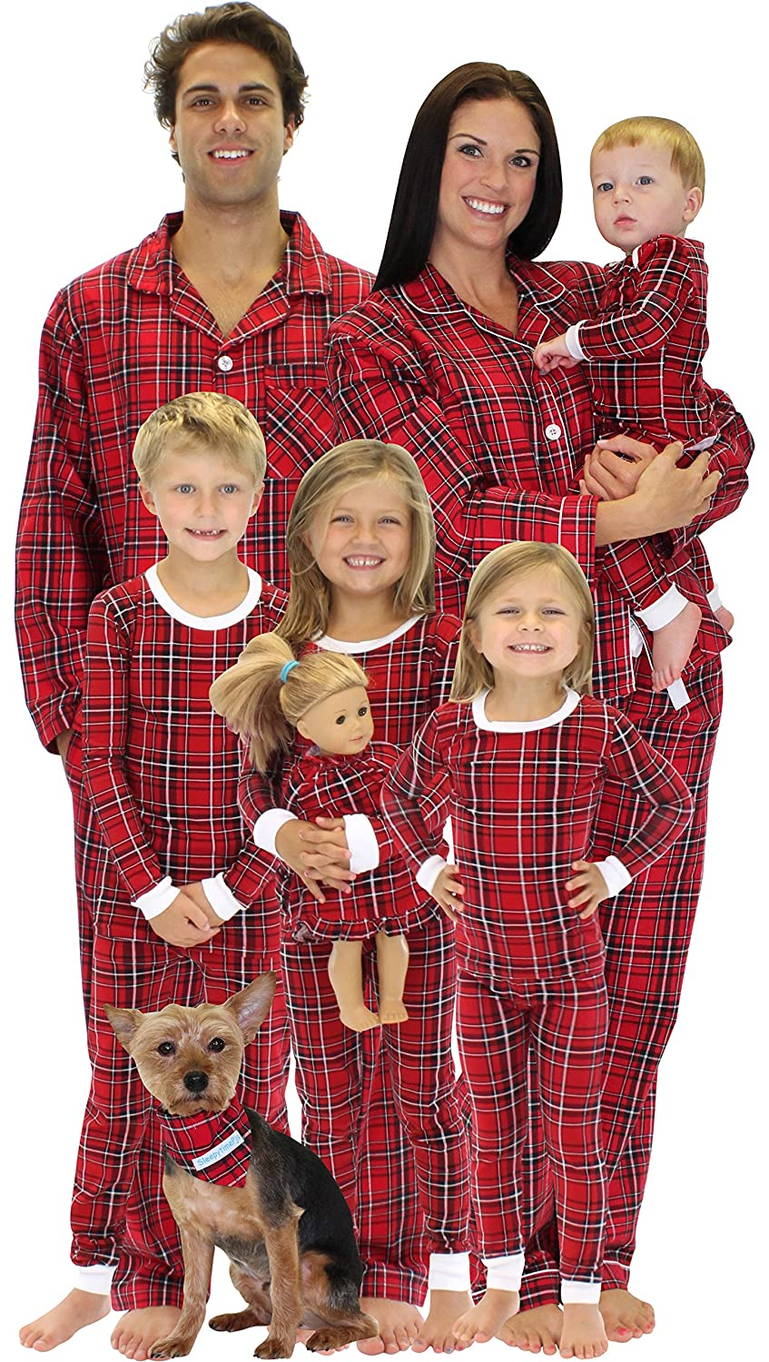 Amazon.com: SleepytimePjs Family Matching Red Plaid Flannel ...