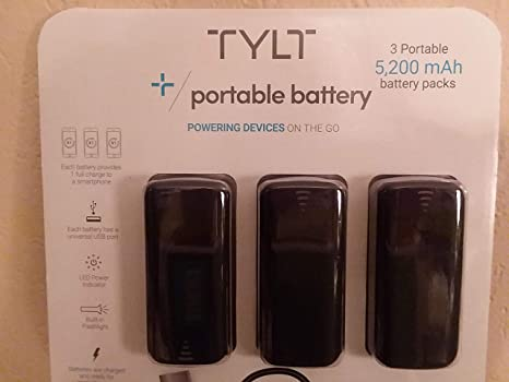 Amazon.com: TYLT 5200mAh 3-Pack Power Bank Cargador de ...