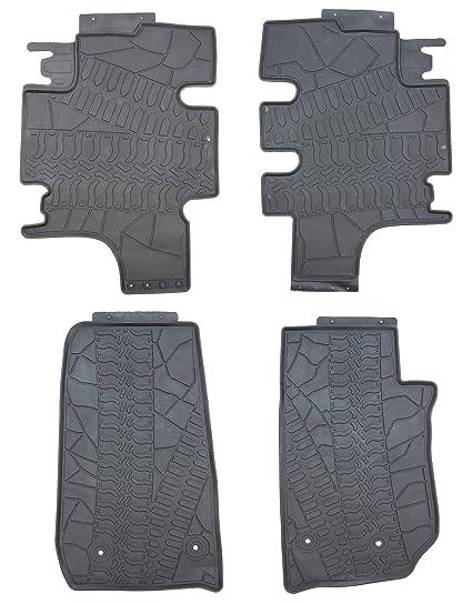 Attractive TMB Motorsports Black Rubber Floor Mats For 2007 2016 Jeep Wrangler JK  Unlimited 4 Door