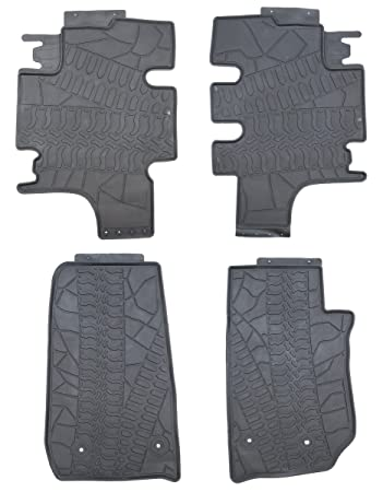 floor by door rubber black ridge unlimited sport jeep rugged liners wrangler mats kit