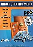 Papel auto-adhesivo con brillo para vinilos A4 x20 hojas