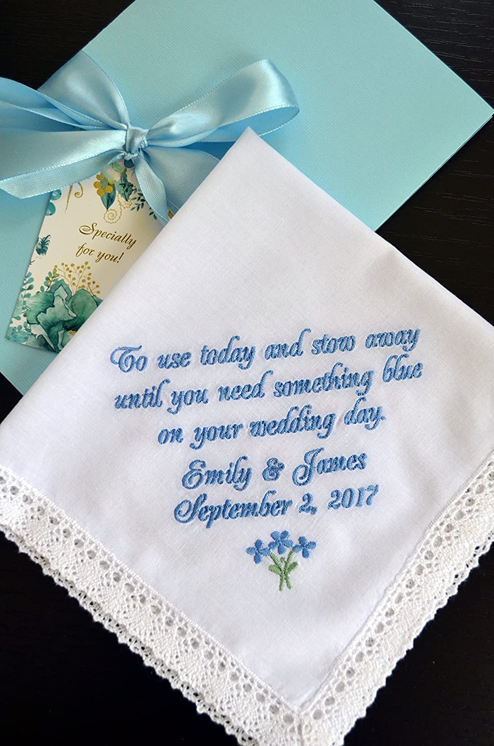 82bfa43d0 Flower girl gift something old for your wedding day Bride gift to Flower  girl wedding gift wedding handkerchief Groom gift wedding hankie  Personalized ...