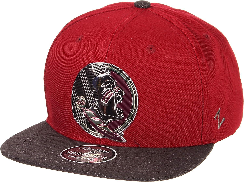 Adjustable NCAA Zephyr Clemson Tigers Mens Imprint Platinum Logo Snapback Hat Team Color//Dark Gray
