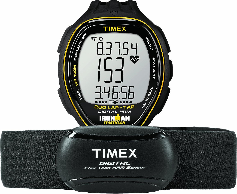 b328abbc3f59 Timex Ironman Target Trainer T5K726F5 Reloj monitor de pulso cardiaco con  correa de resina