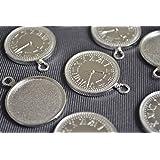 ビーズクラブ アクセサリーパーツ レジン ミール皿 時計 古代銀 フレーム 35mm 1個