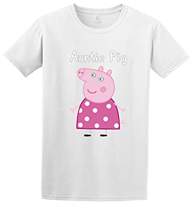 """aa27e8216 """" Auntie Pig """" Mothers Day Peppa Pig Printed Funny Gift Inspired T -"""