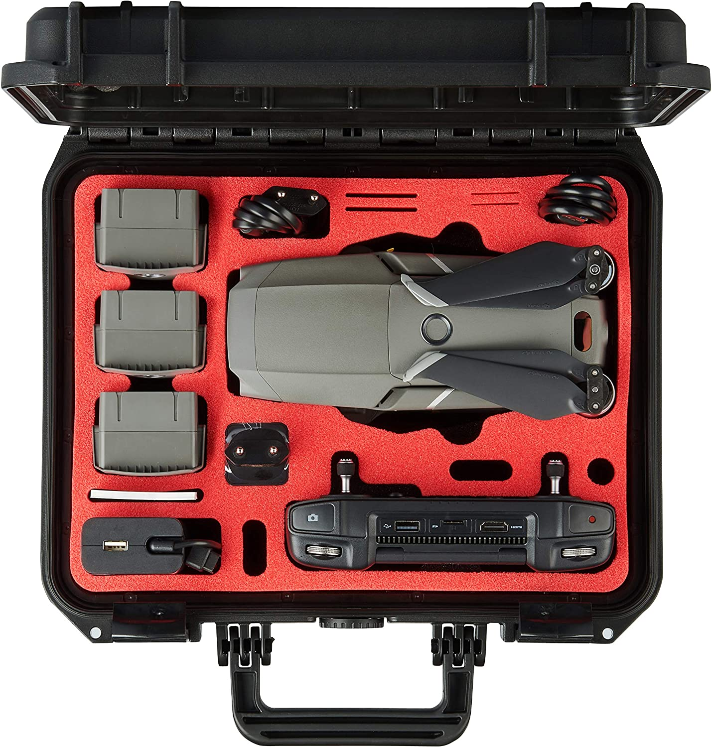 Made in Germany by MC-CASES Compact Edition Professional Carrying Case for DJI Mavic 2 Pro or Zoom with Smart Controller