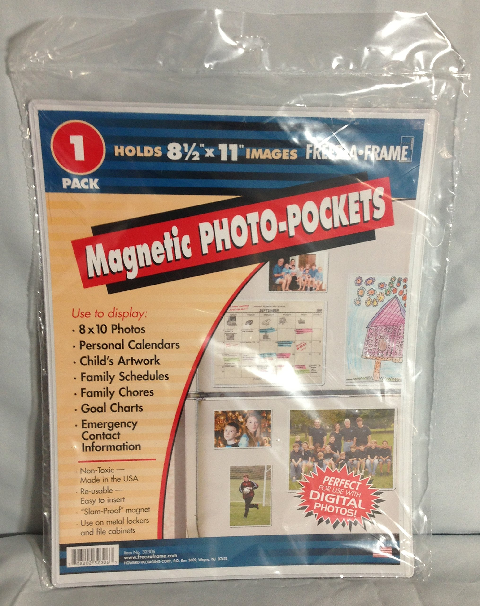 OKSLO Freez-A-Frame 61313 Magnetic 8-1/2 x 11 Photo Frame For Refrigerator 5 x 1-pack