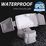 3 Head LED Security Lights Motion Outdoor Motion