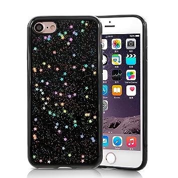 XY-SHELL Funda iPhone 7/8,Bling Sparkle Patrón de Estrella de Cristal Carcasa iPhone 7 Ultra Slim Transparente Suave TPU Case Protector Parachoques ...