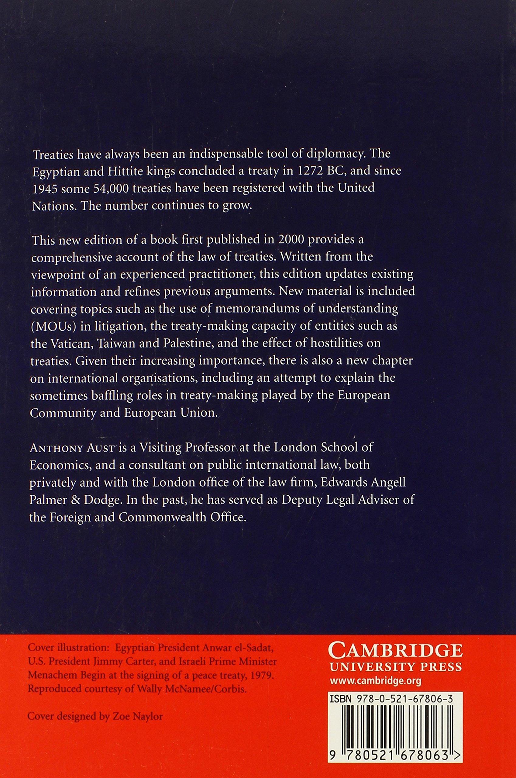 modern treaty law and practice amazon co uk anthony aust modern treaty law and practice amazon co uk anthony aust 9780521678063 books