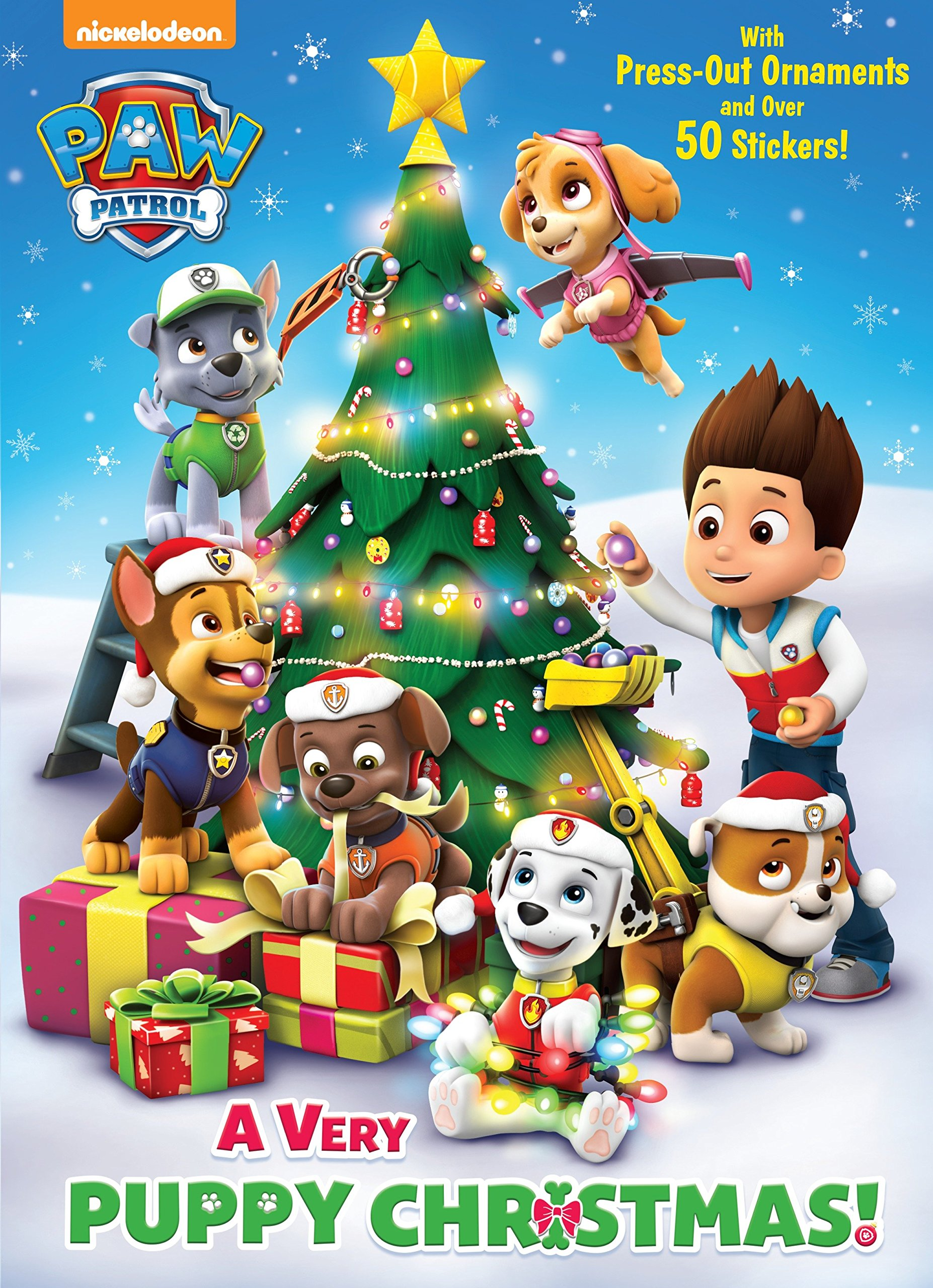 A Very Puppy Christmas Paw Patrol Color Plus Cardstock And Stickers Amazon Co Uk Golden Books 9780399553561 Books
