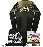 Nuzari Waterproof Polyester Outdoor Motorcycle Cover, Medium - Black