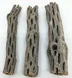 "Awesome Aquatic Natural Cholla/Choya Wood 3 Pieces 6"" for Shrimp Habitat and Food Treat Hermit Crabs Plecos Aquarium…"