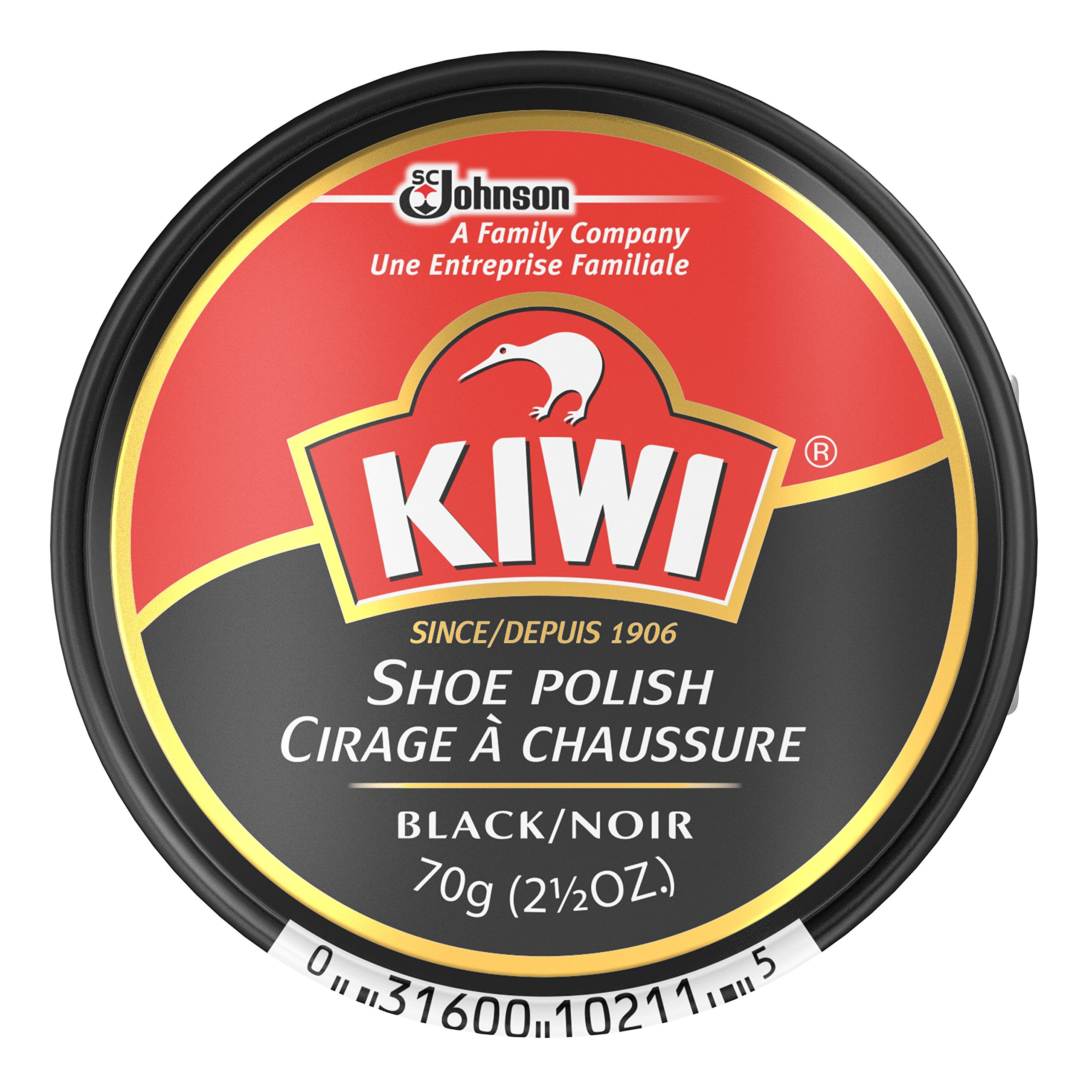 Kiwi Polish Paste Black, 2.5 oz